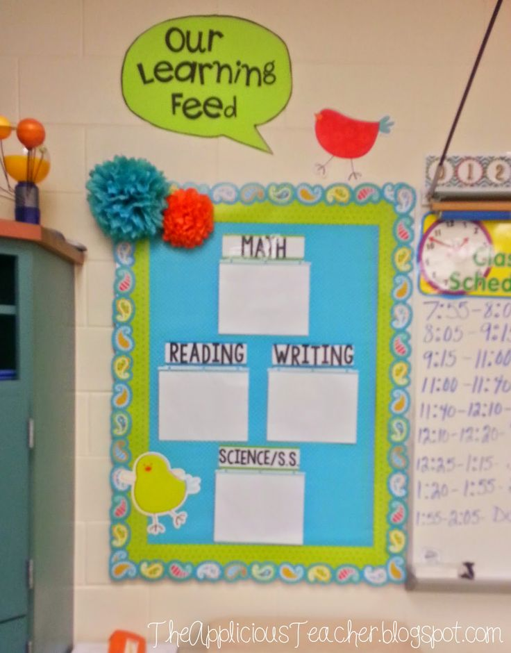 The Applicious Teacher: Our Learning Feed using Creative Teaching Press's Dots on Turquoise collection.