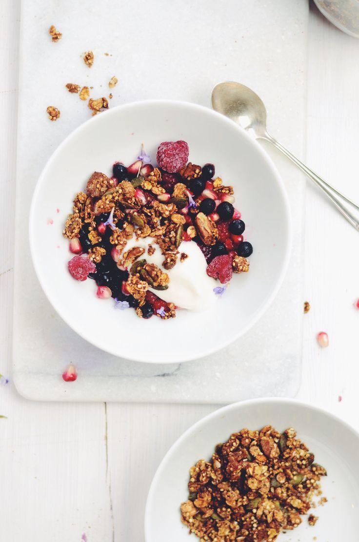 carob tahini crunch granola