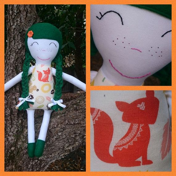 Handmade Doll by TheTuppenceTree on Etsy