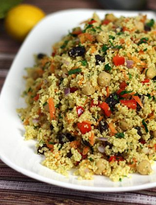 Moroccan chickpea and couscous salad - MediterrAsian.com