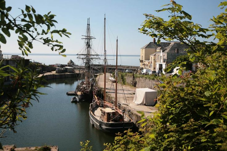Charlestown Near St Austell Cornwall and old fishing port and where they used to ship China clay all around the world.