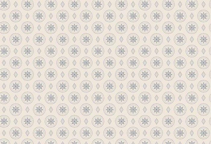 טפטים - עיטורים עגולים לבן-כחול