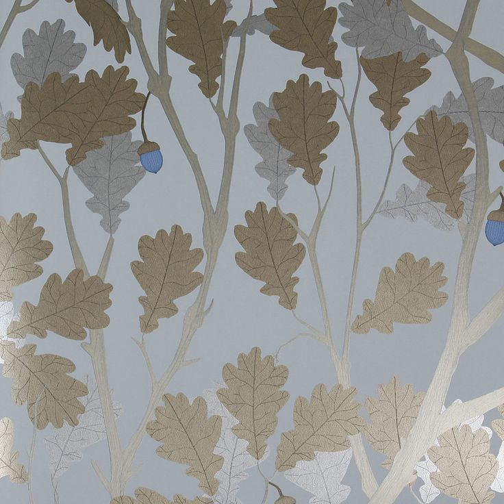 Discover+the+Osborne+&+Little+Cabochon+Collection+-+Feuille+de+Chêne+Wallpaper+-+W643002+at+Amara