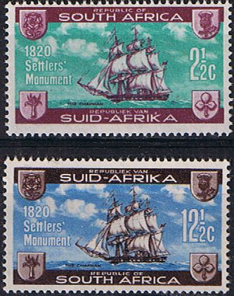 South Africa 1962 British Settlers Monument Set Mint                    SG 222 3 Scott 282 3          Condition Fine MNH    Only one post charge