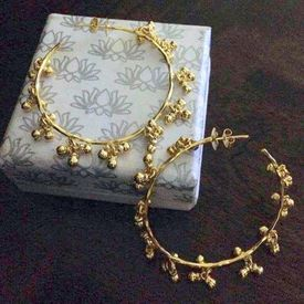 Buy Ghungroo Bali 110JE44 online - JaipurMahal ethnic online store |Rajasthan jewellery |Handicraft | gift shop | Handmade products| Wedding gift online | Jaipur online for India |Rajasthani Jewellery, Crafts