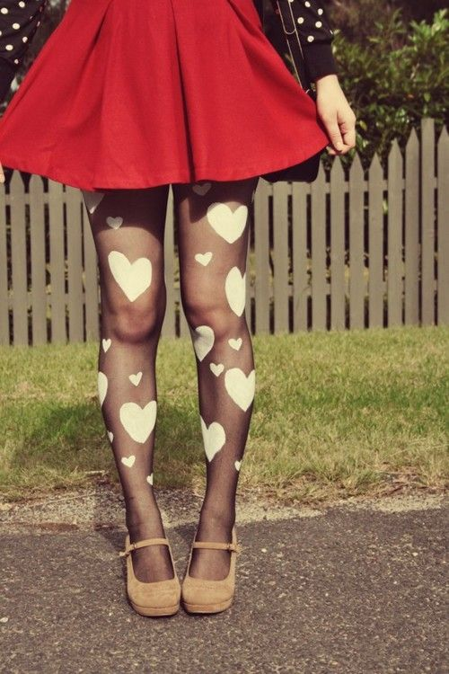 DIY Heart Tights-I absolutely MUST make these.