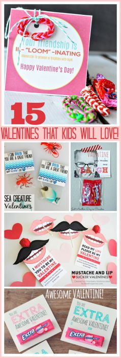 Can you feel the love in the air? Valentine's Day will be here before we know it! We have four wonderful kiddos and I'm always looking for fun handmade Valentines that they can help me make and share with their friends and classmates at school. Today I am sharing the cutest 15 Valentines...