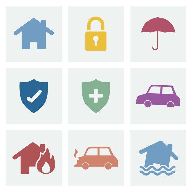 Descarga Gratis Conjunto De Ilustracion De Iconos De Seguridad