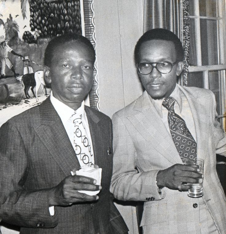 Washington DC (1974) Bahamian Ambassador L. B. Johnson (L) and Aide Winston D. Munnings (Third Secretary/Vice Consul) attending a National Day reception at the Embassy of Guyana.