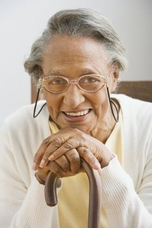 Older African American Women Older Woman Smiling With