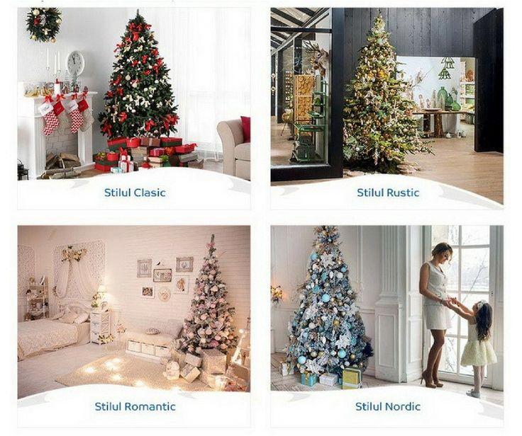 4 stiluri diferite de a decora casa de Craciunul acesta. Tu pe care il alegi?