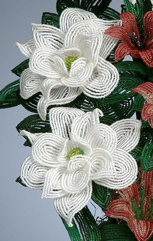 French beaded flowers, started making my own for my bouquet. There are a great alternative to real flowers