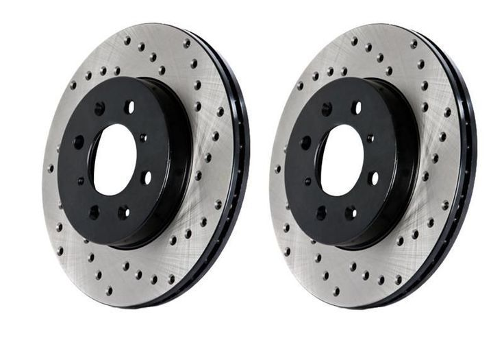 StopTech 2014-2015 Infiniti Q60/ 2008-2013 Infiniti G37/ 2009-2013 Infiniti FX50 SportStop Drilled Front Left Rotor (355mm Front/ 350mm Rear Disc)