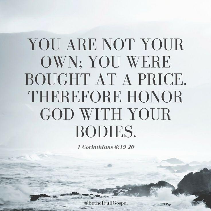 1 Corinthians 6:19-20 #Bible #verse #honorGod