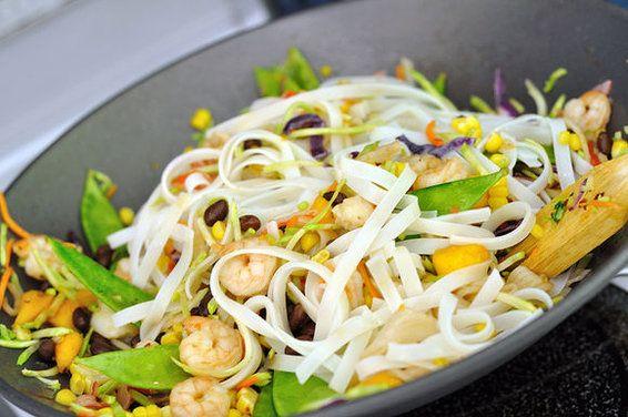 Black Bean Mango Stir Fry with Cilantro Lime Coconut Sauce, a recipe on Food52