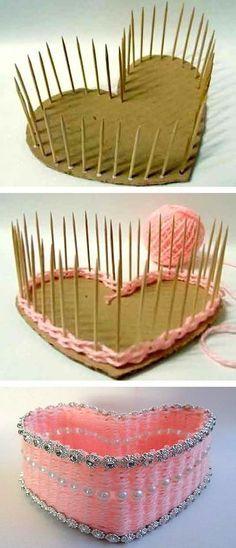 #9. DIY Heart-Shaped Basket | 25 Genius Craft Ideas