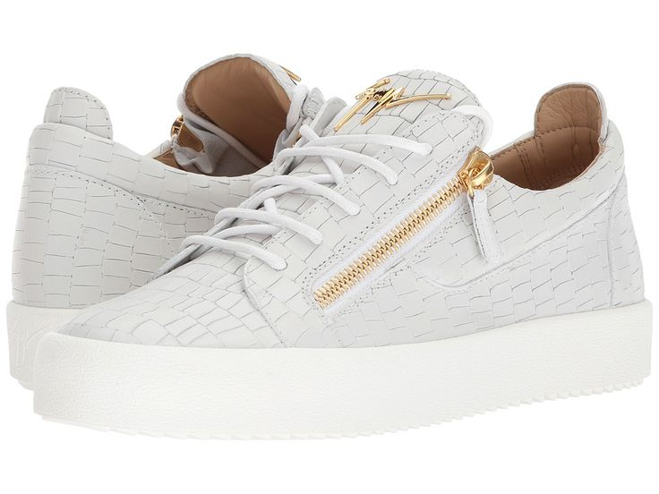 Giuseppe Zanotti May London Textured Low Top Sneaker Men's Shoes White