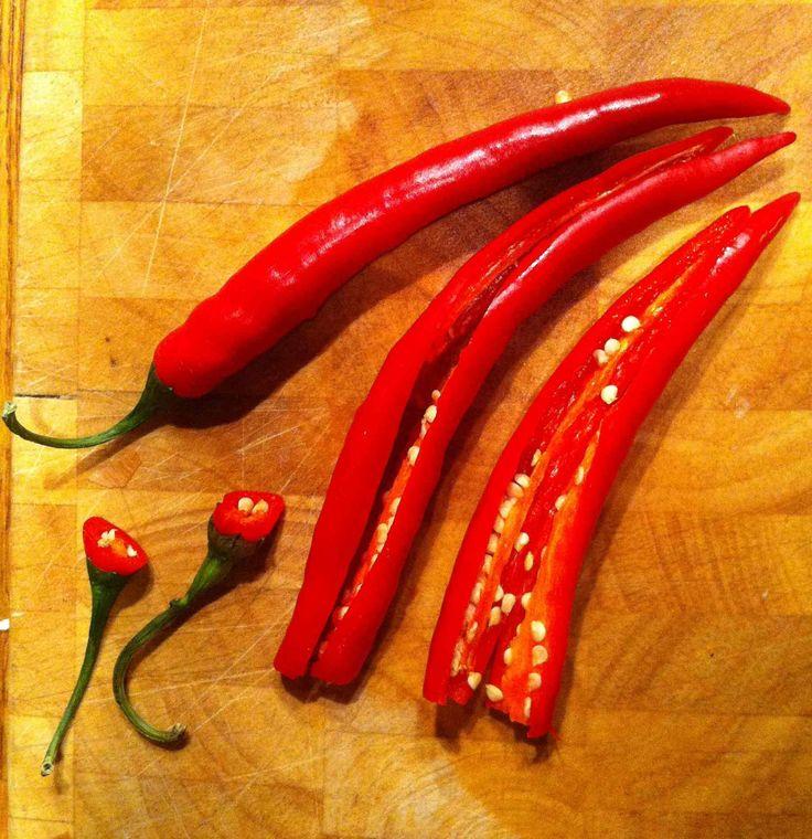 Bit of heat. #food #chillis