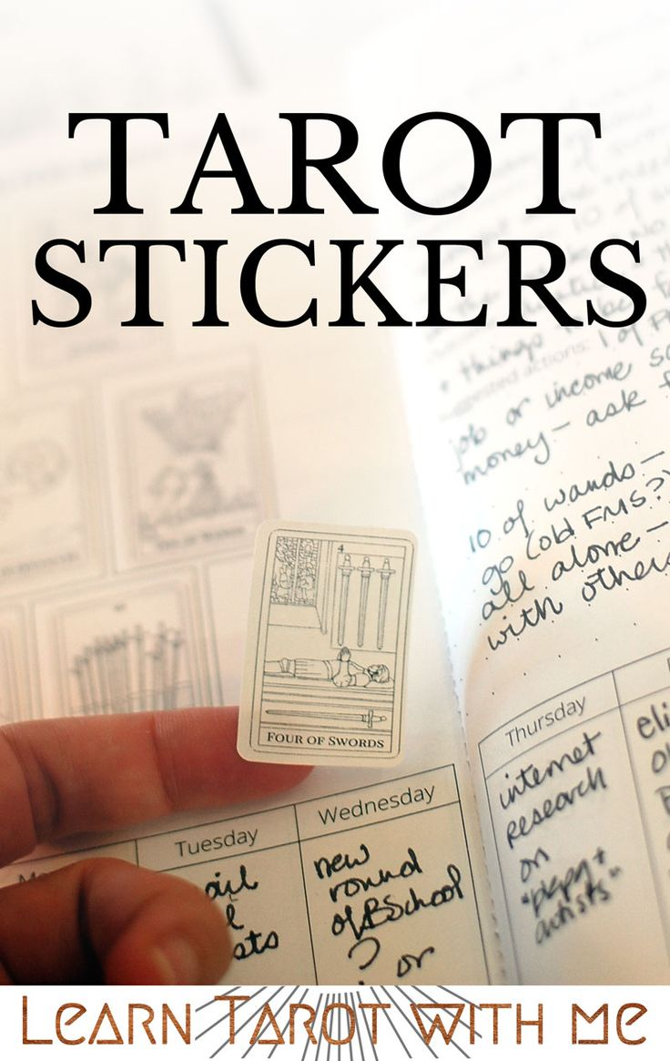 Tiny Tarot Stickers perfectly sized for your tarot journal! Available from Learn Tarot With Me's Etsy shop.