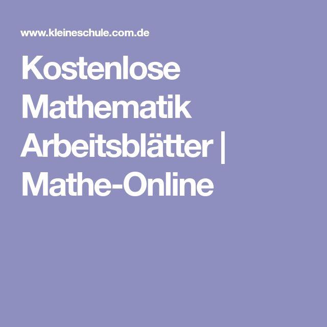 Kostenlose Mathematik Arbeitsblätter   Mathe-Online