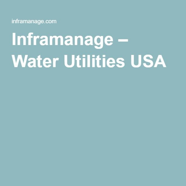Inframanage – Water Utilities USA