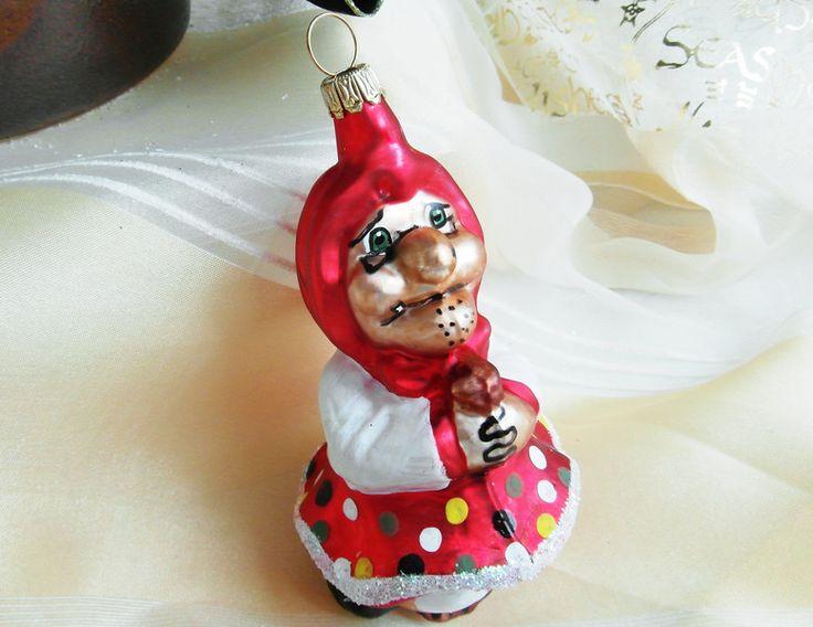 Baumschmuck: Sonstige - rote Hexe aus Glas, Lauscha, Weihnachtsdeko - ein Designerstück von Weihnachtsromantik bei DaWanda