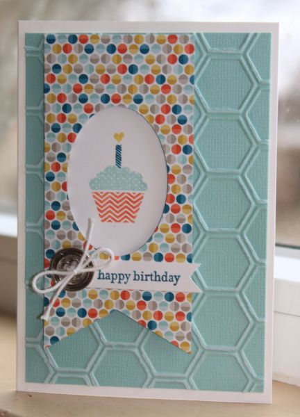 A great Birthday card, such happy colors! SAB Birthday Notecard