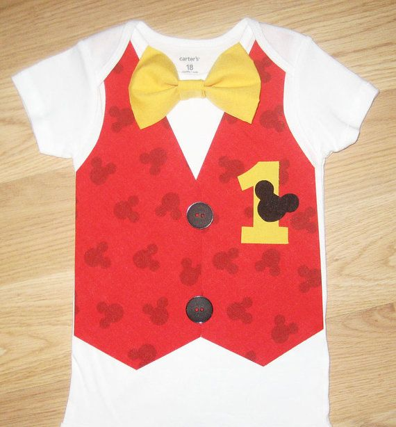Mickey mouse birthday outfit Mickey mouse outfit by kottoncactus