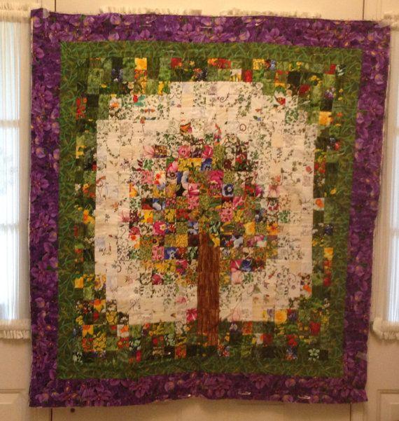 Aquarel boom quilt van TJsImaginings op Etsy