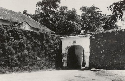 De Waterpoort van het Fort Rotterdam te Makassar 1923.