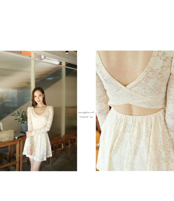 White Lace Dress with back cut detail #sthsweet #somethingsweet #Lacedress