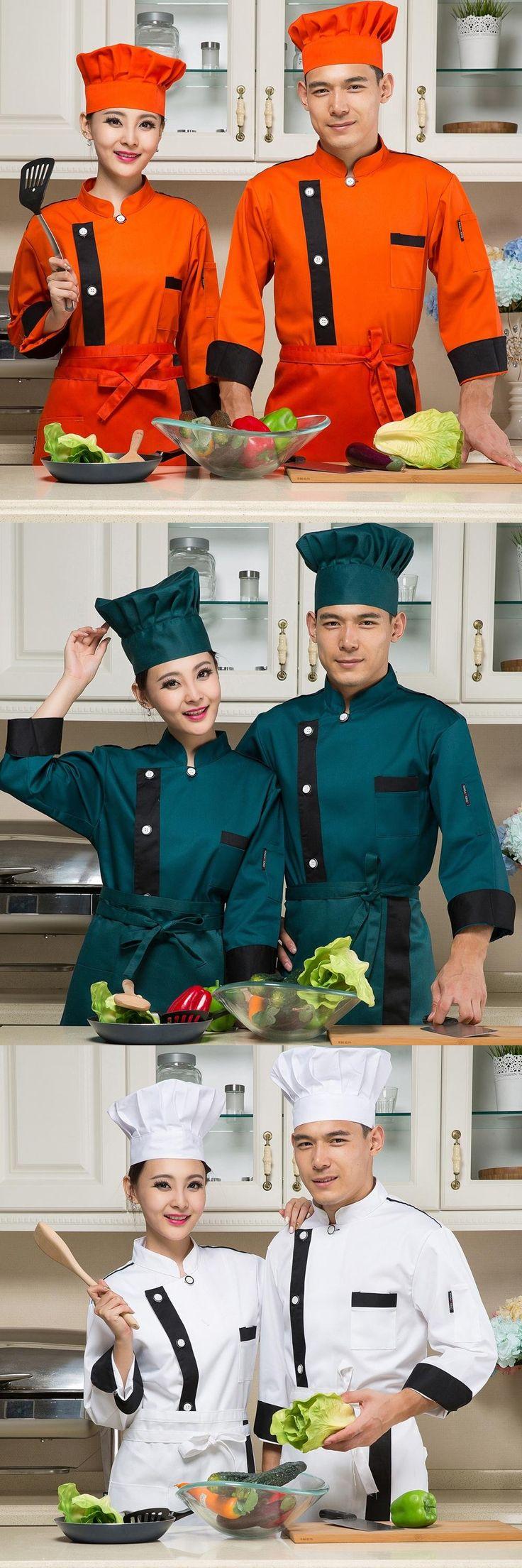 Chef clothing fall and winter clothes hotel Western chef clothing chef clothing long-sleeved kitchen hotel chefs uniforms