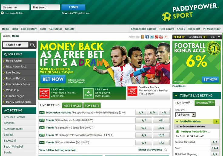 Paddy Power Sportsbook - It comes as no surprise that Paddy Power is a leading bookmaker in the UK and Ireland. The company was founded in 1988 and they have stopped at nothing to make the brand a success from the launch of tradition betting shops to bursting into the online market. http://www.latestsportsbonuses.com/sportsbooks/paddy-power-sportsbook/