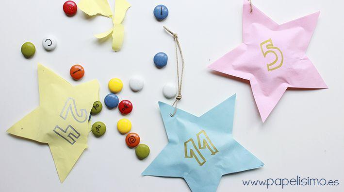 Manualidades f ciles de navidad calendario de adviento en - Manualidades faciles para navidad para ninos ...
