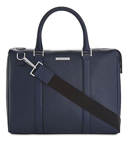 BOSS - Signature leather messenger bag | Selfridges.com
