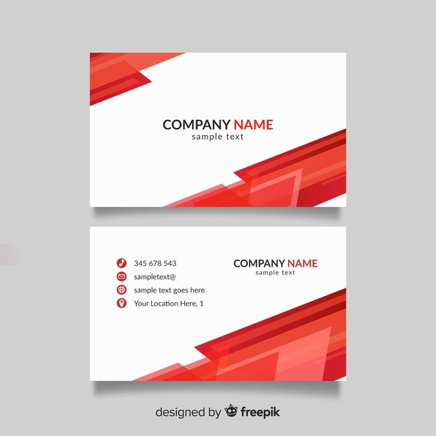 Download Red And White Business Card Template For Free Free Business Card Templates White Business Card Free Printable Business Cards