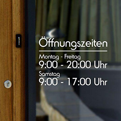 Elegante Öffnungszeiten Aufkleber Werbung Klassik und Moderne Schaufensterbeschriftung Laden Geschäft 25 cm breite (DE1-F3) W-innen, http://www.amazon.de/dp/B0107MARG2/ref=cm_sw_r_pi_awdl_SiBKvb0EW4RS6