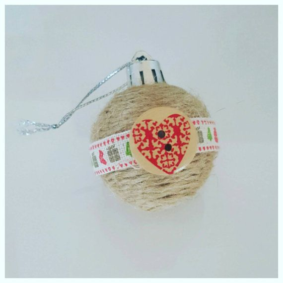 Check out this item in my Etsy shop https://www.etsy.com/au/listing/255190173/mini-bauble-jute-twine-and-christmas