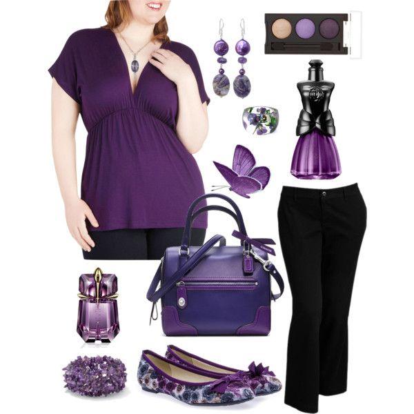Plus Size Work in Purple