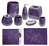 Dreaming of a #purple bathroom? This collection is beautiful!  (Botanica Purple Bathroom Accessories, Deluxe Set - $163.85 at The Purple Store)  www.thepurplestore.com