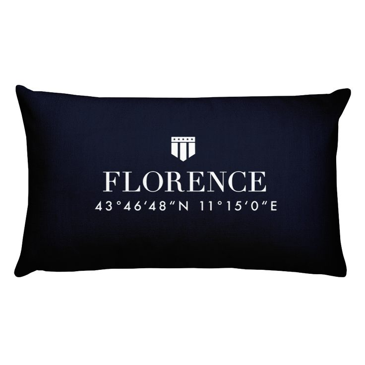 Florence Italy Pillow with Coordinates