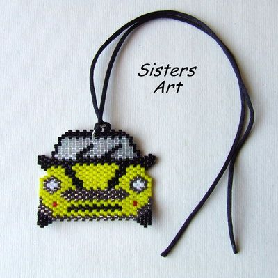 "Ciondolo ""Mini"" realizzato con perline Miyuki delica, by Sisters Art, in vendita su http://www.misshobby.com/it/negozi/sisters-art"