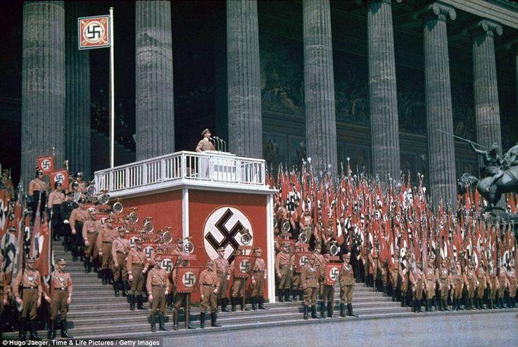 NAZIS enjoying a rally.