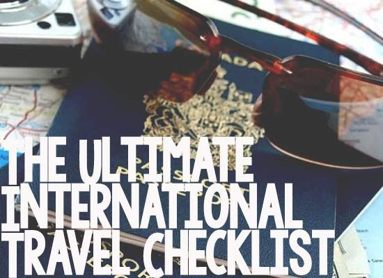 The Ultimate International Travel Checklist - SafeWise