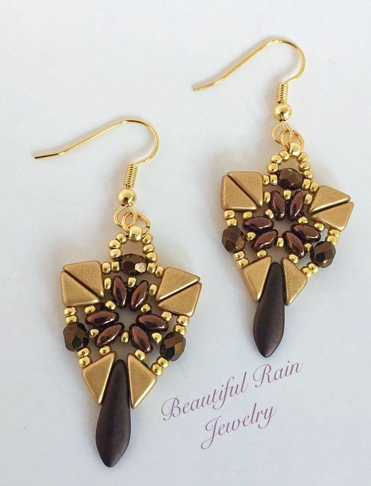 Taylin Earrings Pattern Beaded Earrings Pattern using Tango