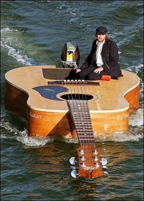 Suzy Grange - Google+ - Guitar boat