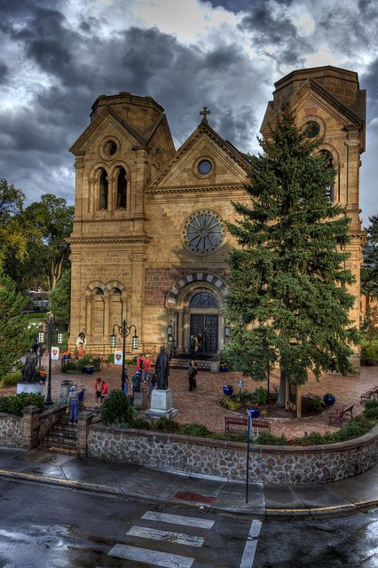 My high school graduation ceremony was held here....Saint Francis Cathedral by Lou Harkey, via Flickr