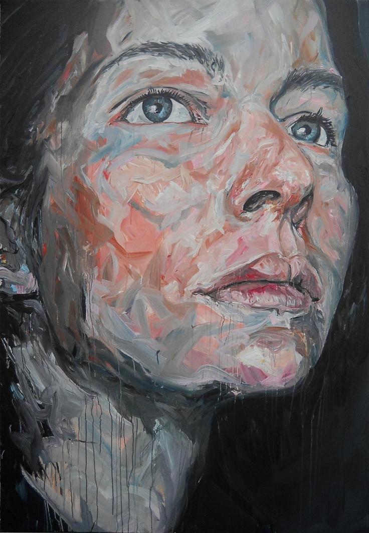 Fred Calmets, Olympe, 140 cm x 210 cm, Acrylique, 2012, ©