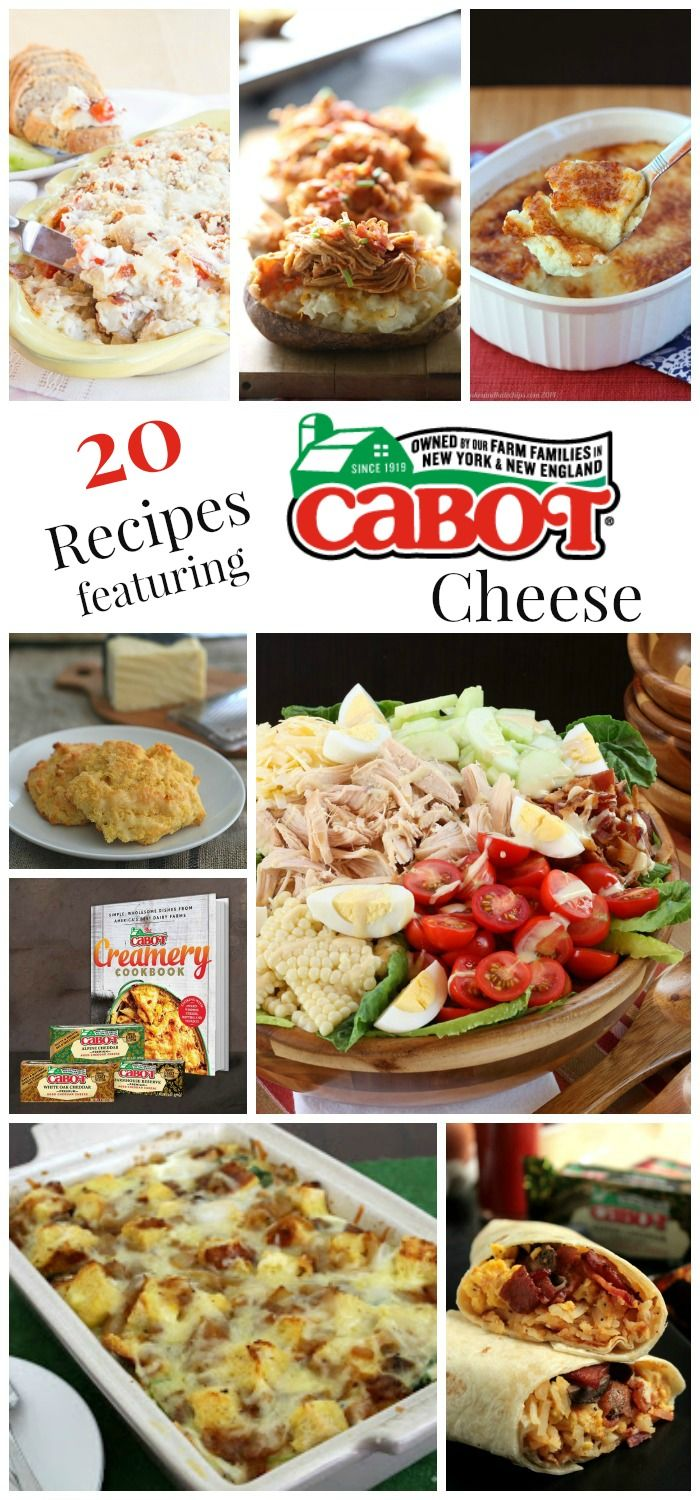 20 Recipes Featuring Cabot Cheese - my favorite Cabot Cheese recipes plus some of the most delicious recipes from the best food bloggers on the web! | cupcakesandkalechips.com