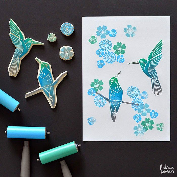 http://www.inkprintrepeat.com/2014/07/block-printing-stamps-by-andrea-lauren_9.html